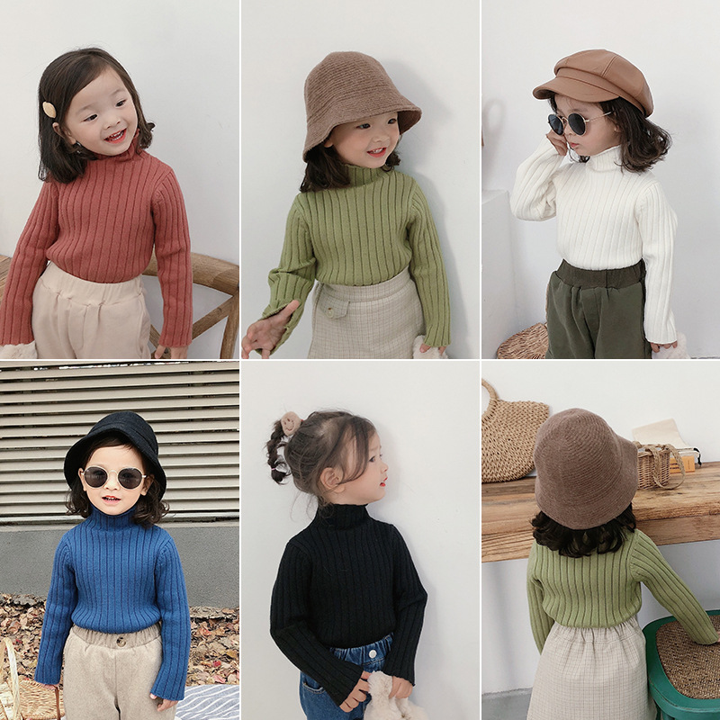 Girl Hollow Out Cotton Long Sleeves O-Neck Single Breasted Sweater Kids Top Clothes