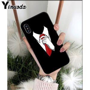 Yinuoda мужской костюм рубашка галстук ТПУ Мягкий силиконовый чехол для телефона Apple iPhone 8 7 6 6S Plus X XS MAX 5 5S SE XR мобильные чехлы