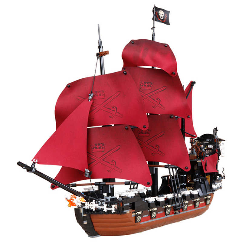 16002 16006 16009 Pirates of the Caribbean The Black Pearl Ship Legoed Model Building Blocks Bricks 4184 4195 70810 Toys Gift