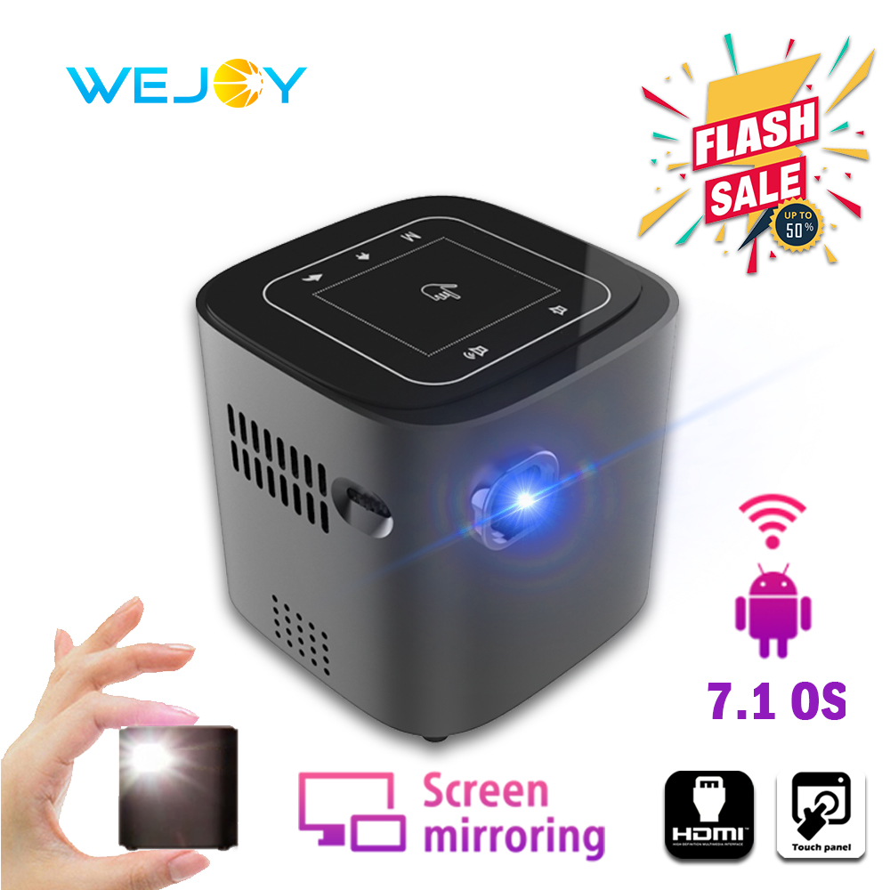Wejoy Mini Pico Projecteur Intelligent DL-S12 Android Téléphone Portable de Poche смарт домашний проектор Portable tv 4k Vidéo Projecteur