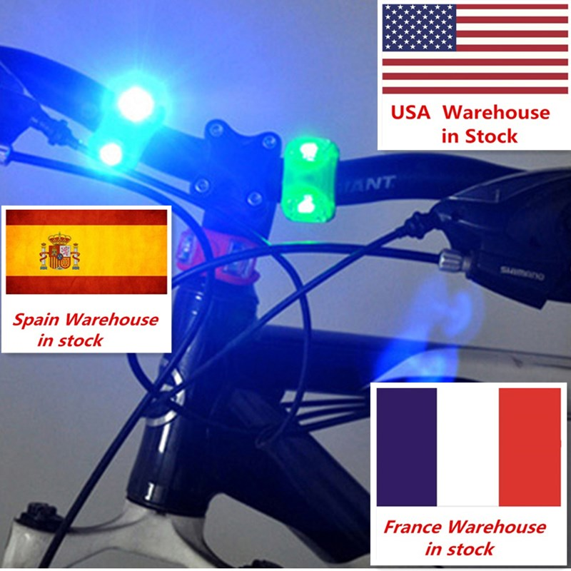 Aubtec Bicycle Front LED Light Head Front Rear Wheel Bike Lights Waterproof Warning Cycling Lamp Light Bicycle Accessories