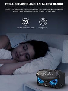 Alarm-Clock Subwoofer Fm-Radio Bass Bluetooth Wireless-Speaker Soaiy S68 Portable Outdoor