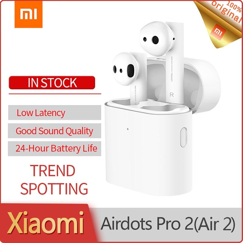 Xiaomi hava 2 TWS Airdots Pro 2 Mi gerçek kablosuz kulaklık 2 TWS kulaklık LHDC dokunun kontrol çift mikrofon ENC kablosuz Bluetooth kulak