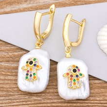 Classic Real Natural Freshwater Pearl Earrings Bohemia Copper CZ Drop Earrings Fine Party Wedding Jewelry For Women Girls [nymph] fine jewelry long tassel pearl earrings natural big baroque pearl drop earrings for women party e321