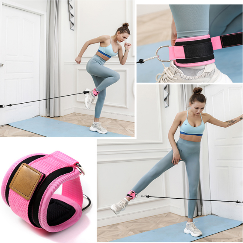 Resistance Bands with Ankle Straps Cuff with Cable for Attachment Booty Butt Thigh Leg Pulley Strap Lifting Fitness Exercise 2