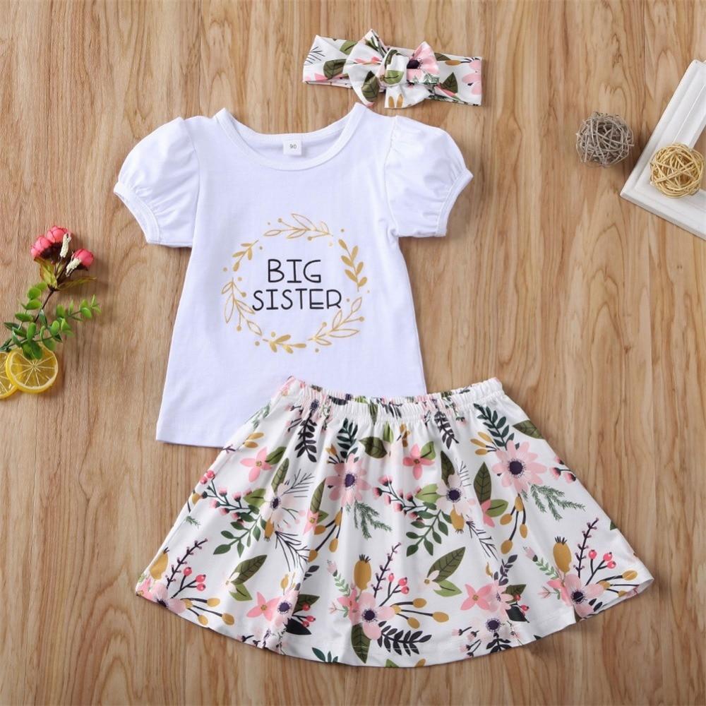 big sister little sister girls clothes set kids summer outfits (22)