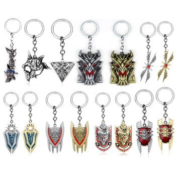 League of Legendes Jinx cannon LOL Keychain Metal Key Ring Iron Solari Leona Teemo Weapon Keyring For Gift Car Key Chain Jewelry image