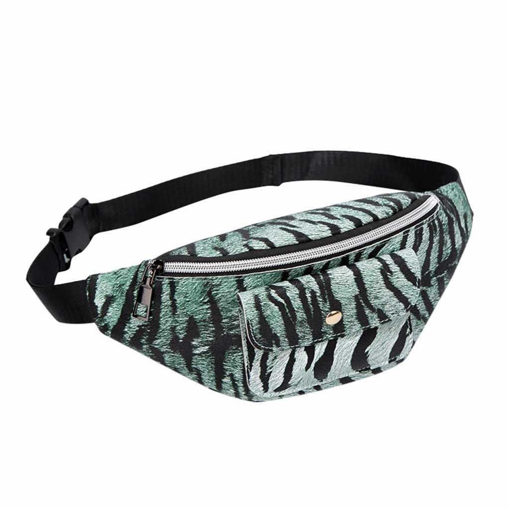 Tiger Muster Taille Packs Fanny Packs Frauen Doppel-reißverschluss Schulter Leopard Taille Pack Brief Geldbörse Handy Tasche bel cantasi