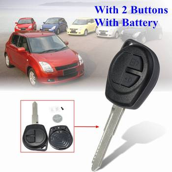 Car Remote Key Case Shell With 2 Buttons Cr1616 Battery For Suzuki Ignis Alto SX4 For Vauxhall Agila Replacement Accessories Fob image