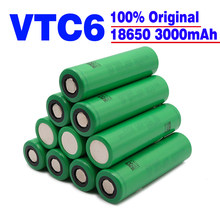 Original VTC6 18650 3000mAh Battery 3.7V 30A High Discharge18650 Rechargeable Batteries for US18650VTC6 Flashlight Tools Battery