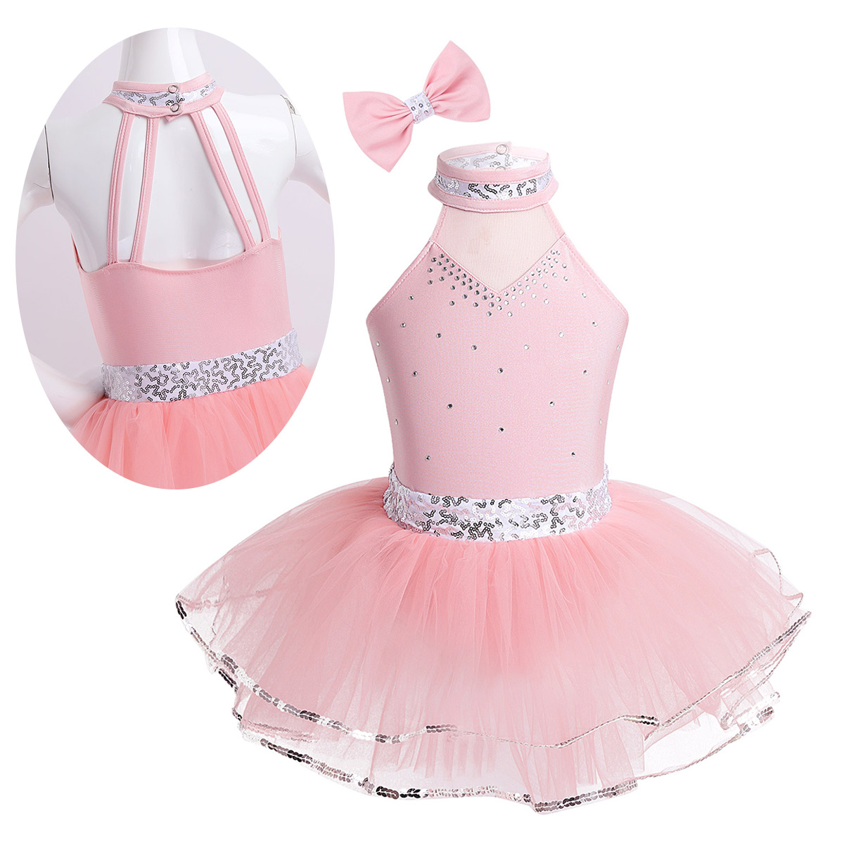 Children Kids Girls Ballet Tutu Professional Halter Sparkly Ballet Child Girls Ballet Dress Ballet For Costumes Balarina Party