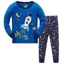 Новая Пижама для маленьких мальчиков пижама с рисунком детская