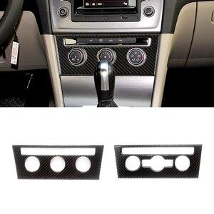 Для VW Golf 7 MK7 VII 2013 2014 2015 2016 2017, внутренняя центральный пульт из углеродного волокна, регулятор кондиционера, накладка на раму
