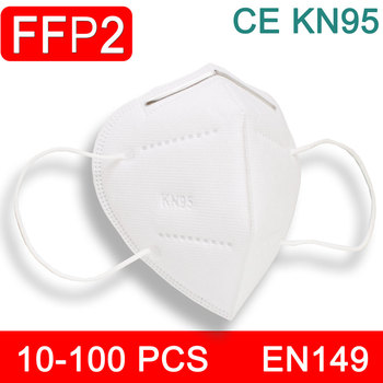 10-200 PCS FFP2 Mask Face Mouth Mask KN95  PM2.5  Filter Pad Protective Masks Safety Breathable FFP 2 Anti Dust Particle mask