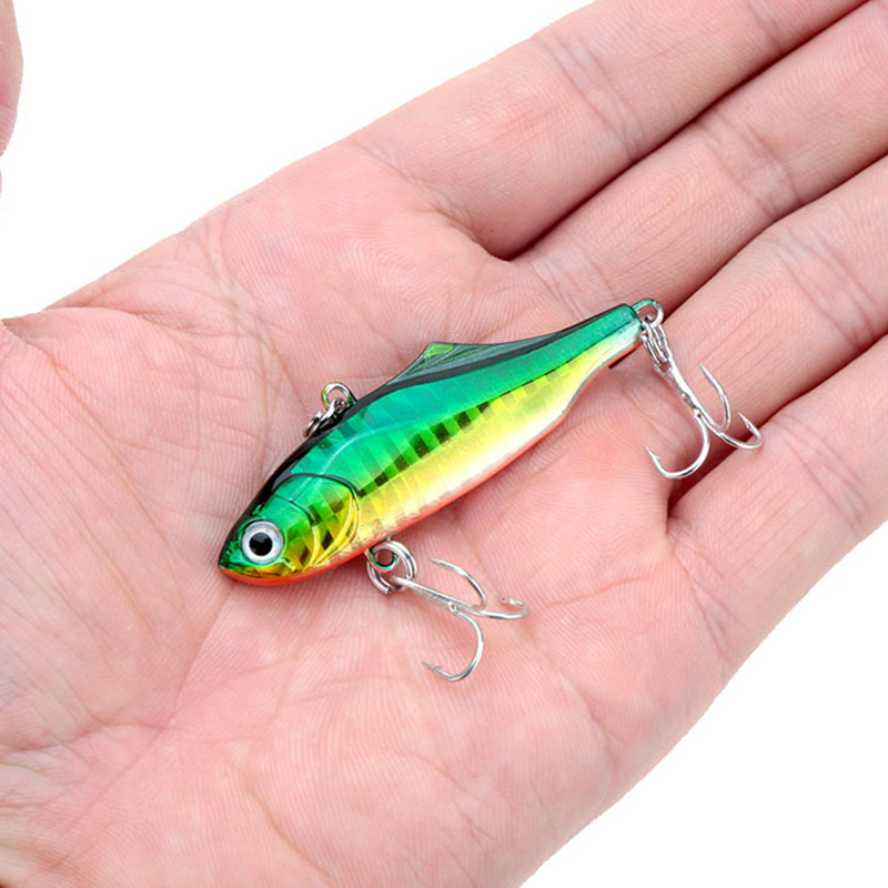 WALK FISH 1Pcs 6cm 14g Winter Fishing Lures Plastic VIB Hard Bait Lead Inside Vibration Fishing Tackle Wobbler Lure