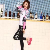 Sbart's корейский женский купальник из двух частей лайкра дышащая одежда для серфинга солнцезащитный принт с длинным рукавом Дайвинг костюм т...