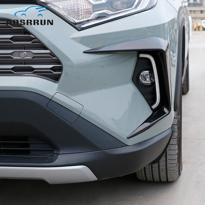 Front Fog Lamp Decoration Frame Car Accessories 2019 <font><b>2020</b></font> for for Toyota <font><b>RAV4</b></font> RAV 4 XA50 Chromium Styling Exterior Accessories image