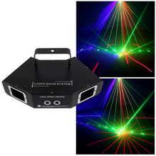 WUZSTAR Disco Laser DJ Light RGB Party Projector Lights DMX Control Stage Lighting Effect for Wedding