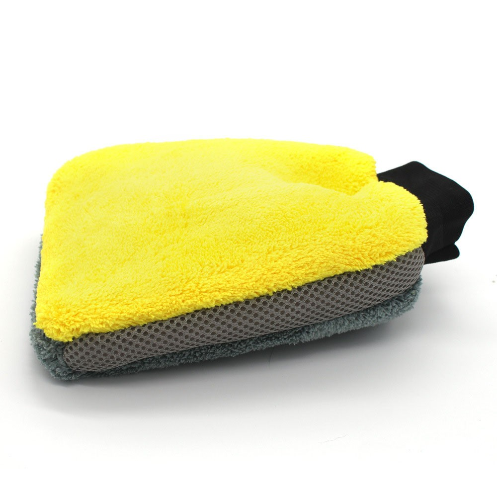 Glove Mitt Cleaning-Tool Detailing Car-Washing-Glove Microfiber Thick 4-In1multi-Function