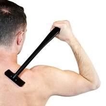 Afeitadora Manual de seguridad para hombre, mango largo, hoja grande, herramienta de depilación