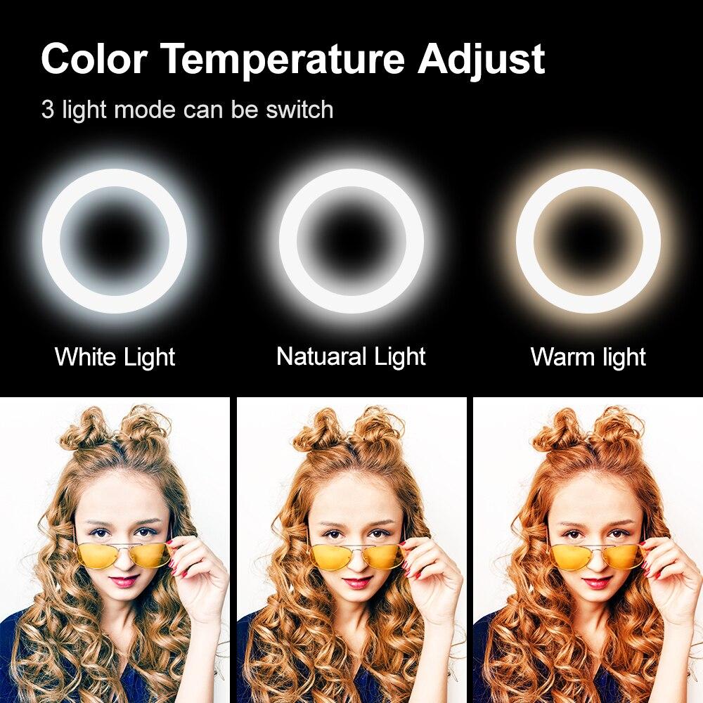 LED lampica u obliku svjetla za selfie prsten s mogućnošću - Kamera i foto - Foto 6