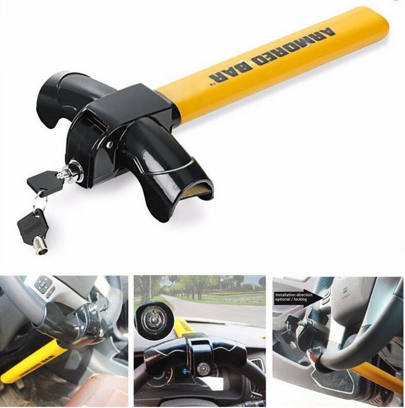 Anti Theft Steering Wheel Lock  Wheel Lock T Shape High Safety Anti-Theft Lock for Car SUV Truck Auto Cars Lock