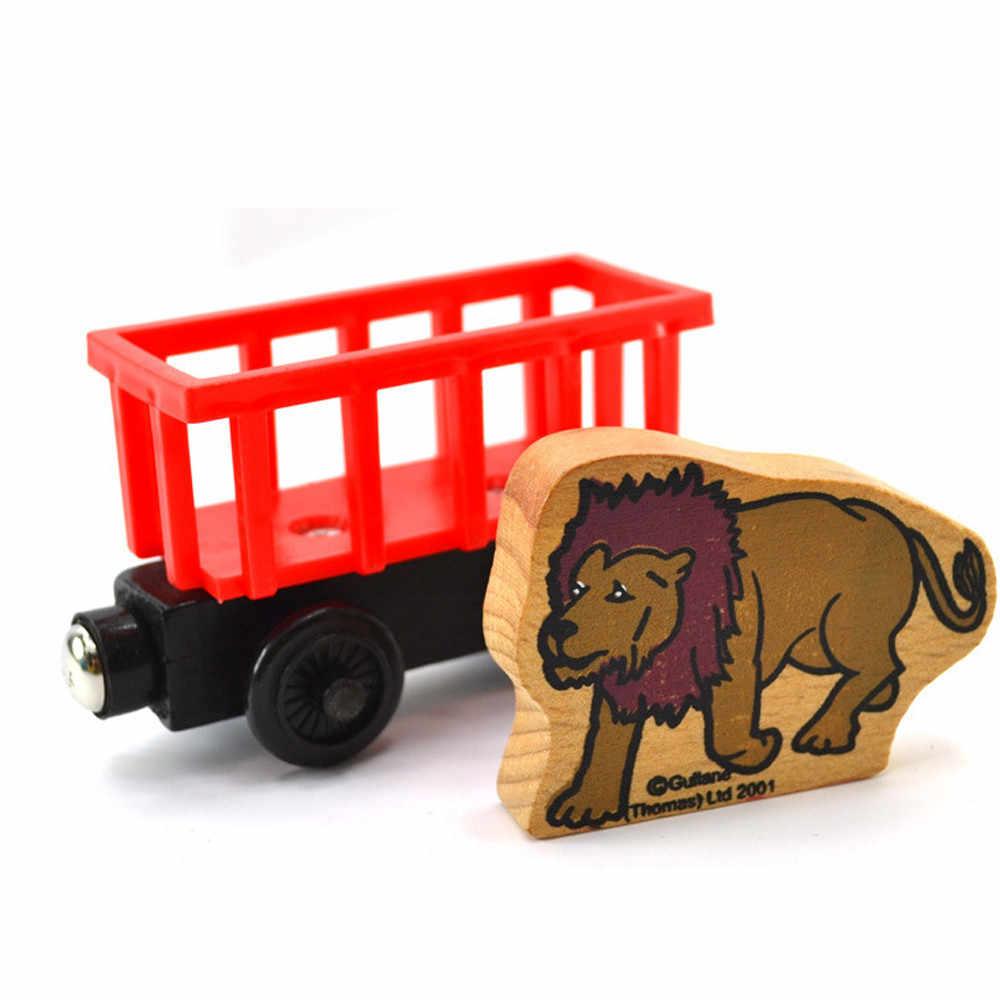 لعب للأطفال جديد شخصية الكرتون 1 قطعة اسم الحيوان قطار خشبي الأدوات الجدة للاهتمام الأطفال متعة عيد ميلاد اللعب