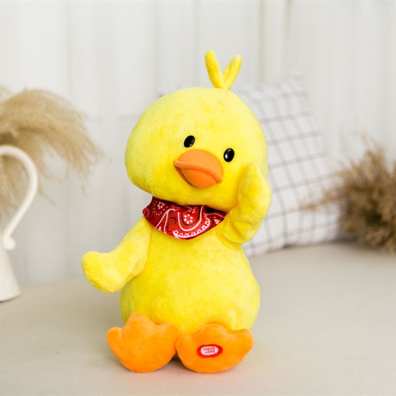 Douyin Small Yellow Duck Electric Plush Toys Singing Sway Rotating Dancing Duck Send Girl'S Online Celebrity Gift