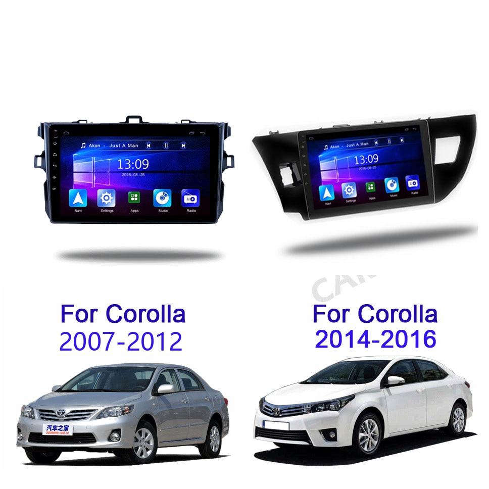 9 inch 2 Din Android smart Auto Multimedia-Player FM Gps Navigation Wifi Bluetooth für Toyota Corolla 2007-2016