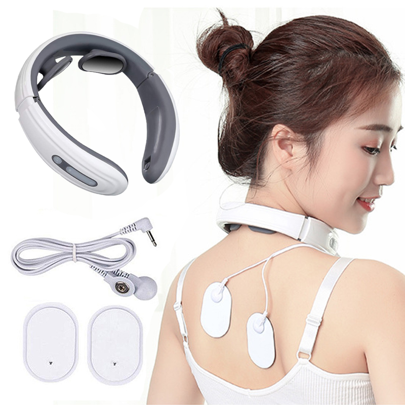 Back And Neck Massager Electric Pulse Magnetic Therapy Far Infrared Heating Pain Relief Cervical Massager Relaxation Health Care
