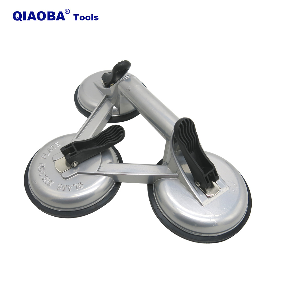 Three Claw Aluminum Alloys Vacuum For Tile And Glass Vacuum Sucker Pads Vacuum Rubber Glass Sucker