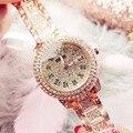 Женские часы женские роскошные Брендовые женские кварцевые женские часы со стразами женские часы женские наручные часы для женщин Relogio ...
