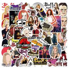 50 sztuk klasyczny program telewizyjny Buffy wampir Slayer naklejki DIY motocykl deskorolka Notebook walizka naklejka Graffiti naklejka F5 tanie tanio SIKOMOLE CN (pochodzenie) 12 + y 4-6y 7-12y About 5 cm Cartoon about 0 032kg SL-DD058 None Children Gift New style Decorate