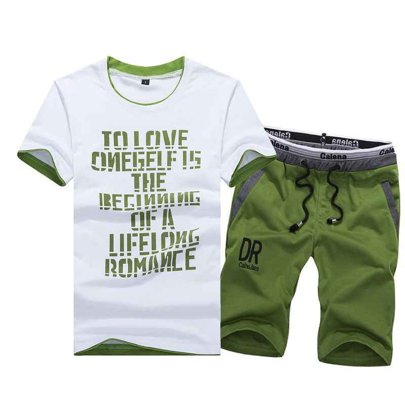 Summer DR Sports Short Sleeve Set Men Spring Gym Running Sports Clothing T-shirt MEN'S Casual Shorts Men's
