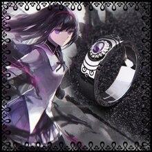 Anime Puella Magi Madoka Magica Akemi Homura Ring 925 Sterli