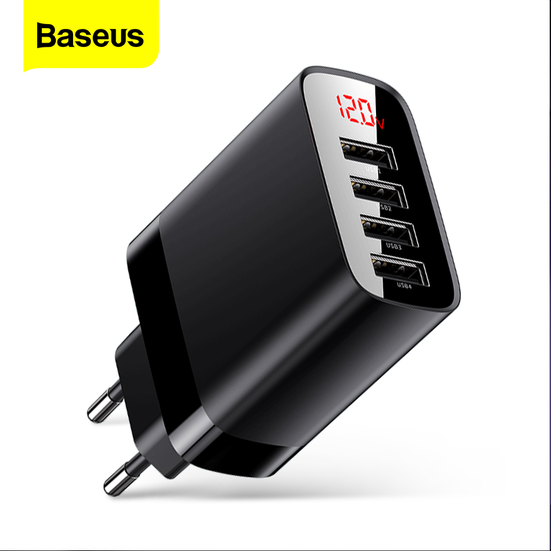 Chargeur USB Baseus pour iPhone 11 Pro Max 30W Charge rapide pour Xiaomi rouge mi Huawei Mate 30 Pro Charge rapide 4 Ports USB Charge