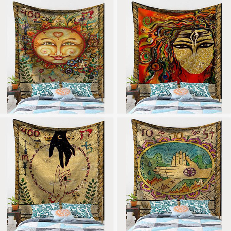 4 Kinds Size Tarot Tablecloth Astrology  Beautiful Colorful Pattern Game Tarot Sofa Cover Tapestry Board Game Accessorie