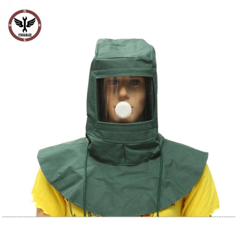 FINDAMAZE Blasting Hood Sand Abrasive Grit Shot Sandblaster Mask Dust Protective Tool
