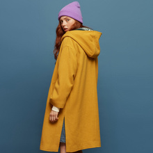 Women Woolen Coat outerwear winter clothing Office Lady Coat fashion warm woolen blends elegant coat
