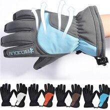 Ski Gloves Motorcycle Waterproof Fleece Thermal Gloves Snowmobile Riding Winter Gloves Windproof Waterproof Unisex Snow Gloves