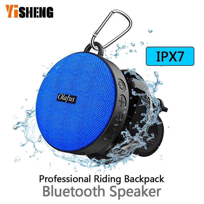 Orador portátil exterior do bluetooth da bicicleta com ventosa waterproof o orador do chuveiro chamada mãos-livres ipx7