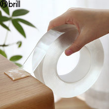 1/2/3m nano fita dupla face fita para scrapbooking fita transparente nenhum traco reusavel impermeável casa