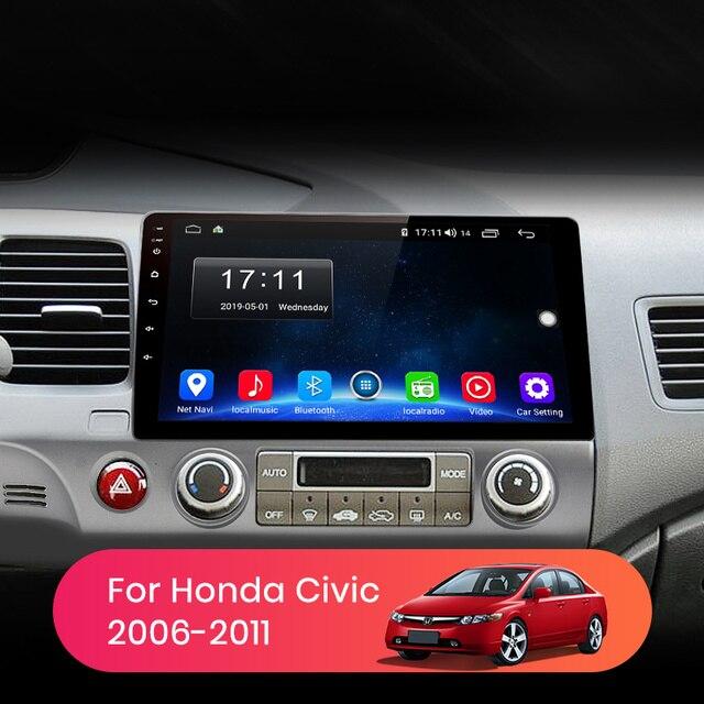 AWESAFE PX9 dla Honda Civic 2006-2011 radioodtwarzacz samochodowy multimedialny odtwarzacz wideo GPS nr 2din 2 din Android 9.0 2GB + 32GB