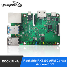 ROCK PI 4A V 1,4 Rockchip RK3399 Cortex sechs core SBC/Single Board Computer Kompatibel mit offiziellen Raspberry Pi display
