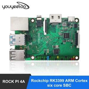 ROCK PI 4A V1.4 Rockchip RK3399 Cortex six core SBC/Single Board Computer Compatible with official Raspberry Pi Display