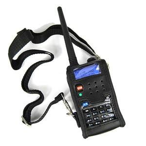 Image 2 - 2pcs CB Radio Soft Leather Case Pouch Accessories For BAOFENG Walkie Talkie UV 5R Case UV 5RE Plus UV 5RA Plus UV 5RB TYT TH F8