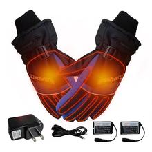 USB перчатки с подогревом зимние теплые руки с электрическим подогревом перчатки с питанием от батареи термальные водонепроницаемые для мотоцикла лыжные перчатки