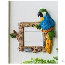Креативные наклейки с переключателем для попугаев на стену животными