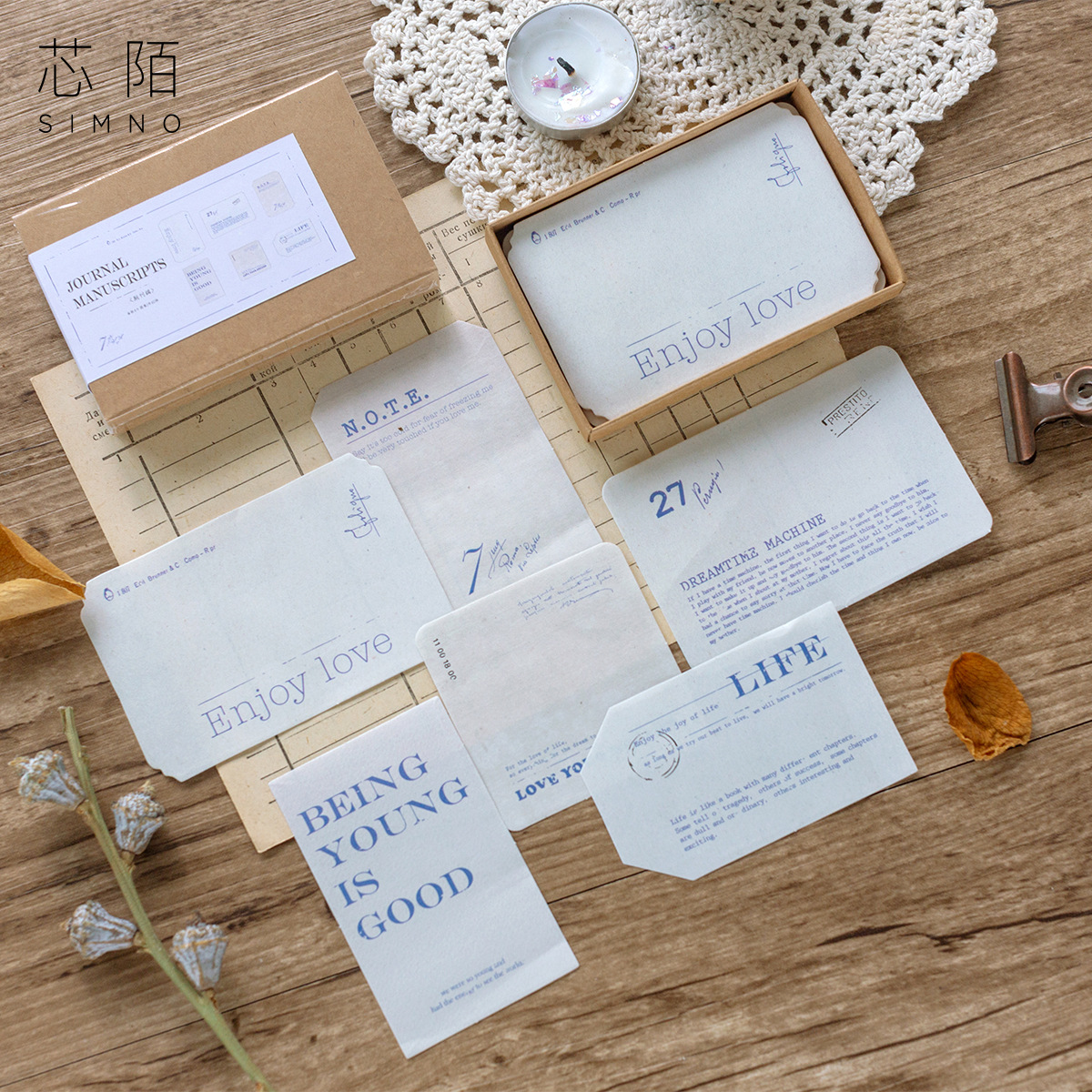 60 Pcs/Box Vintage Travel Bill Tag Paper Sticky Notes Memo Pad Diary Flakes Scrapbook Decorative Memo Bullet Journal Stationery