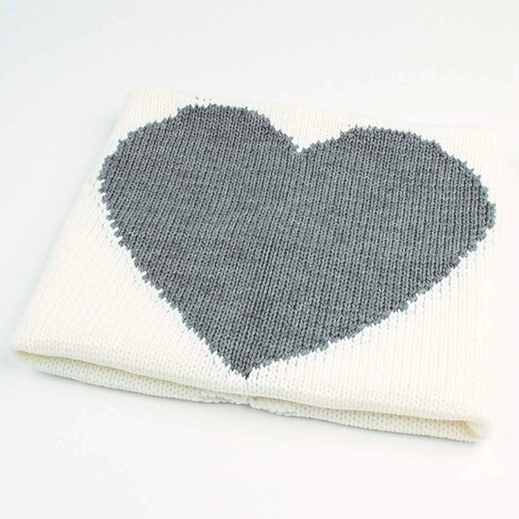 ベビー毛布新生児かわいいハート形ニットラップ毛布スーパーソフト幼児寝具ベビーブランケットニット 0-のための 6 年齢